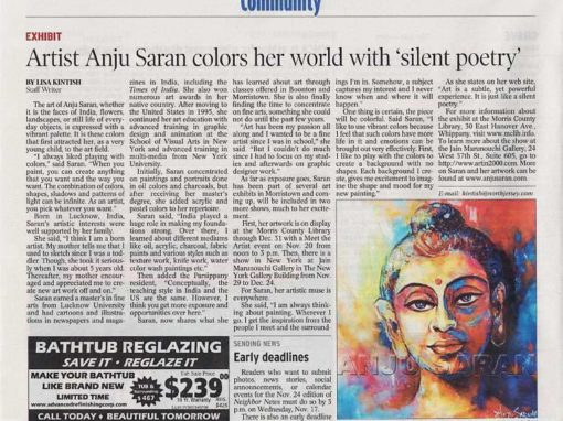 Artist Anju Saran Colors Her World With 'Silent Poetry'